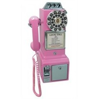 Crosley 1950's Classic Pay Phone in Pink - Crosley - CR56-PI Phones