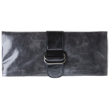 Shiraleah Harper Vegan Clutch Bold Graphite Color