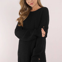 Complicated Distressed Sweater Dress