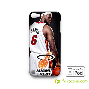 LEBRON JAMES Miami Heat NBA iPod Touch 4, 5 Case Cover