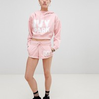 Ivy Park Logo Jersey Shorts In Pink at asos.com