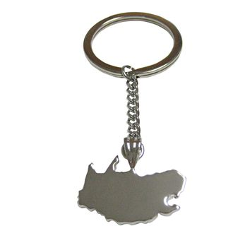 South Africa Country Map Shape Pendant Keychain