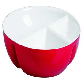 Guzzini Two-tone hor-d'oeuvres dish in Red