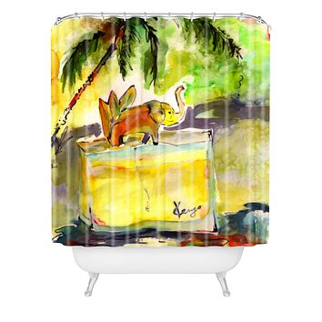 Ginette Fine Art French Perfume Bottle 2 Shower Curtain