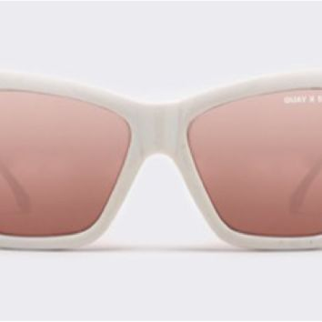Quay x Shay Mitchell Vesper White / Rose Sunglasses