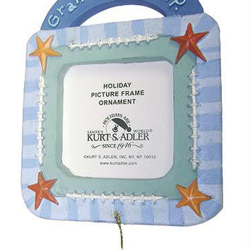 "Picture Frame Christmas Ornament - Reads  "" Grandma's M.v.p"