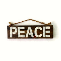Peace Wood Sign