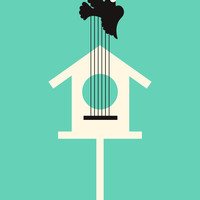 A bird stole my song Art Print by Budi Satria Kwan