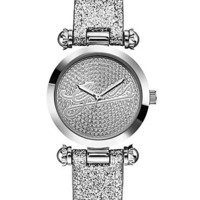 Silver Glitter Watch at Guess