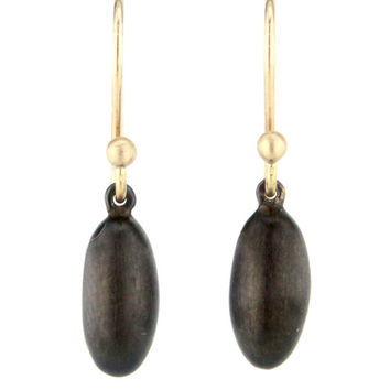 Ted Muehling Black Plate Melon Earrings