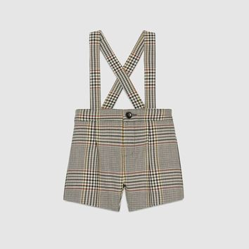 Gucci Baby retro check wool overall