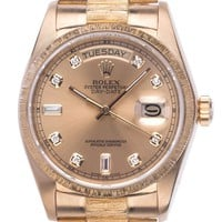 Rolex Day Date 18kt Gelbgold Diamond 36mm open 6/9 Ref.18078 Vintage Bj.1978
