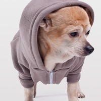f997p - Pewter Flex Fleece Dog Zip Hoodie