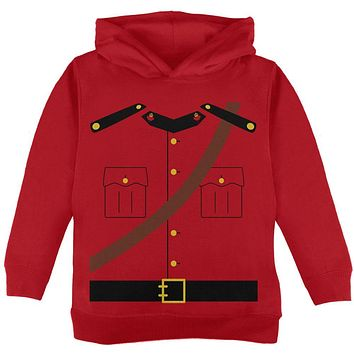 Halloween Canadian Mountie Police Costume Toddler Hoodie