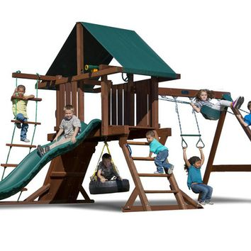 Playnation Two Ring Wooden Swing Set