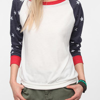 Alternative Print Sleeve Pullover Tee