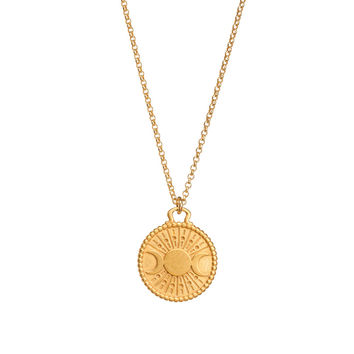 mercury in retrograde protection pedant necklace, gold dipped - Dogeared