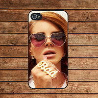 iphone 4 case,iphone 4s case,iphone 4 cover--LANA Del REY,in plastic or silicone case