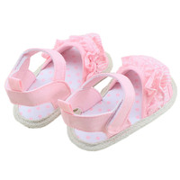 2016 SummerCute Lovely Sweet Baby Infant Toddler Girl Lace Soft Sole Non-slip Shoes 0-18M
