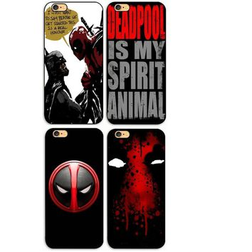 Deadpool Dead pool Taco Hot Selling  Super Cool Marvel Hero  Head  Hard Plastic phone Case Cover For iphone 4s 5 5s se 5c 6 6s plus 7 7plus 8p AT_70_6