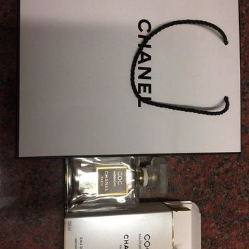 Empty Botyle Of Coco Chanel Mademoiselle Perfume Spray Bag Ribbon