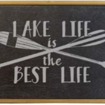 Lake Life Slate and Bamboo Serving Tray