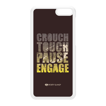 Sporty - Crouch Touch Pause Engage 20144 White Hard Plastic Case for Amazon Fire Phone by Sporty Slang