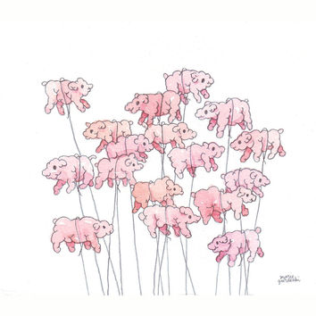 Pinky Bloaters | Original Drawing by Marie Gardeski