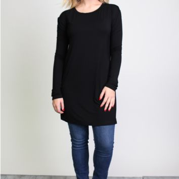 Piko 1988 Side Split Long Sleeve Top