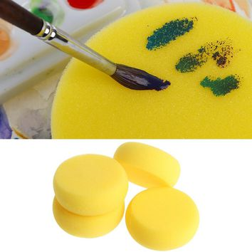 Hot 5PCS Round Painting Sponge F Art Drawing Craft Clay Pottery Sculpture Cleaning Tool