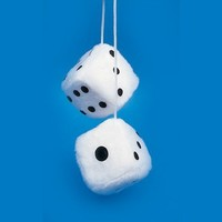 Loftus Fuzzy Car Dice - 3 Inch