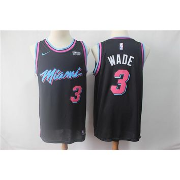 Miami Heat 3 Dwyane Wade City Edition Swingman Jersey