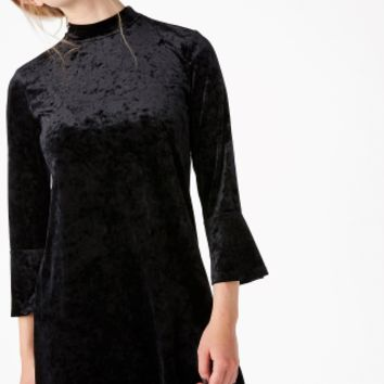 Monki | View all new | High neck velvet dress