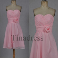 Custom Pink Short Bridesmaid Dresses 2014 Cheap Party Dresses Homecoming Dresses Prom Dresses Wedding Party Dresses Bridesmaid Dresses