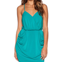 BCBGeneration Drape Pocket Dress in Green