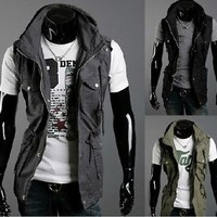 Jeansian Mens Jackets Blazer Coats Shirts Vest Outerwear 3 Colors 4 Size 9030