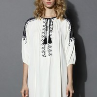 Tribal Embroidered Hi-Lo Tunic Multi
