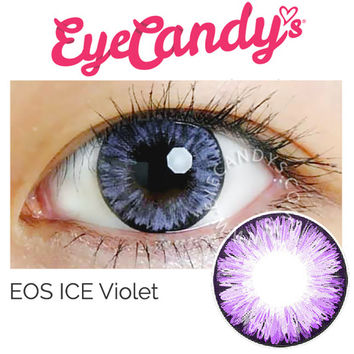 EOS Ice Violet Color Circle Contacts