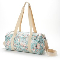 Candie's Floral Duffel Overnighter (Blue)