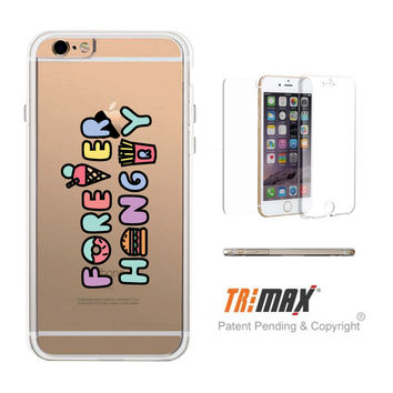 365Printing Tri Max® Forever Hungry Food Clear Transparent TPU Apple iPhone Cases iPhone 6 6S Plus