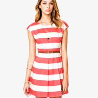 Classic Striped Woven Dress