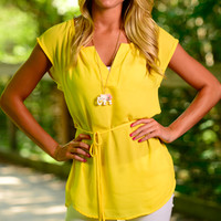 Sunny Day Blouse, Yellow