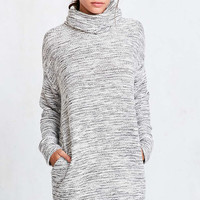 Silence + Noise Malachi Shimmer Cowl-Neck Sweater Dress - Urban Outfitters