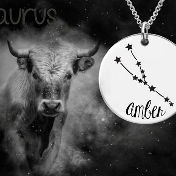 Taurus Constellation | Zodiac Necklace