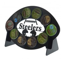 Pittsburgh Steelers Football 10 K Cup Holder and Coffee Pod Display