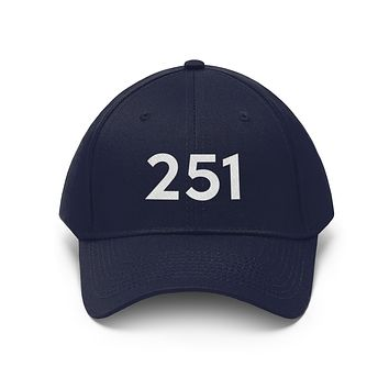 Alabama 251 Area Code Embroidered Twill Hat