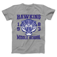 Hawkins Middle School Tigers 1983 Athletic T-Shirt - inspired by Stranger Things Hit Series