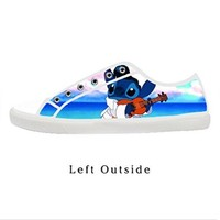 Custom Lilo And Stitch Women's Canvas Shoes Fashion Shoes for Women
