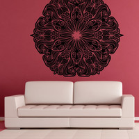 Vinyl Wall Decal Sticker Abstract Flower Circle #OS_AA1691
