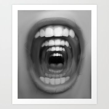 Mouthception Art Print by hiimadel